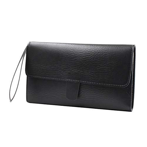 Uonlytech Schere Halter Tasche für Friseure Salon Werkzeuge Holster Bag (Black)