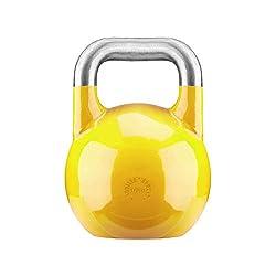 GORILLA SPORTS® Kettlebell Competition 16 kg Stahl Gelb - Wettkampf Kugelhantel