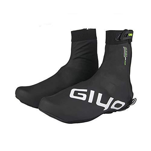 Womdee Cubre Zapatillas de Bicicleta, Antideslizante Zapatos de Ciclismo al Aire Libre Cubierta, Cuero de PU con Forro de Vellón Térmico,Pieza Reflectante Segura para Ciclismo MTB (M-2XL)