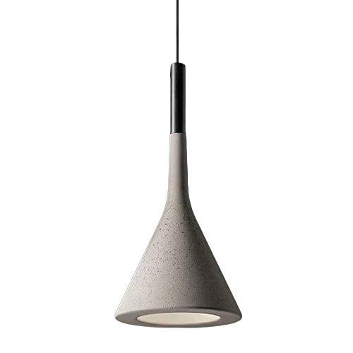 Tea fairy Plafoniera Nordic Industrial Designer Classic Lampadario in Cemento Modern Creative Dining Room Soggiorno Ristorante Cucina E27 Lampada a Sospensione Decorativa (Color : Gray)