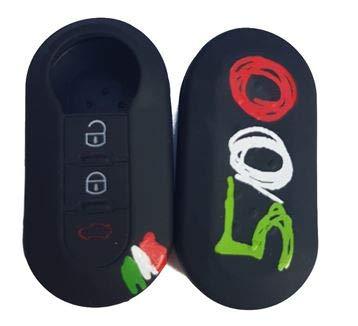 Tech11 FIAT - Protezione in silicone per telecomando chiave FIAT - FIAT 500 - PANDA (DAL 2012) - BRAVO - PUNTO - 500L - LANCIA YPSILON (DAL 2011 IN POI) - DELTA - DOBLO' - MUSA (500)