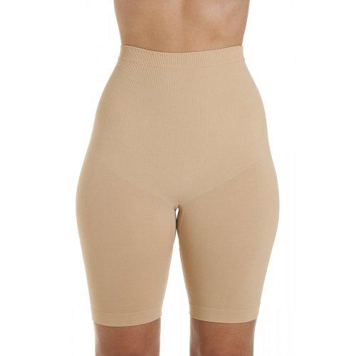 Short gainant sans coutures - femme - beige - tailles M-XL