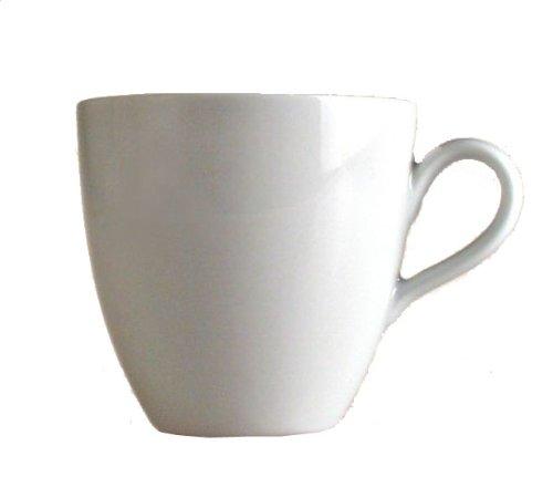 Alessi Sg53/87 Mami Tasse à Café-filtre en Porcelaine Blanche, Set de 6 Pièces
