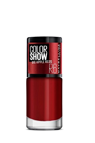 Maybelline New York Color Show Big Apple Nail Paint, Red Hot, 6ml