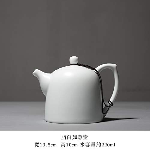 Harz Chaise (Ornamente Statuen Fett Weiß Kung Fu Teekanne Keramik Chaise Pot Ding Ofen Haushalt Japanischen Stil Teekanne 13,5 * 10 * 22)