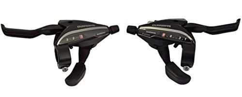 Shimano Acera EZ Fire Schalt-/Bremshebelset für Fahrrad, 3 x 8 / 24 Gänge, Schwarz, STEF65