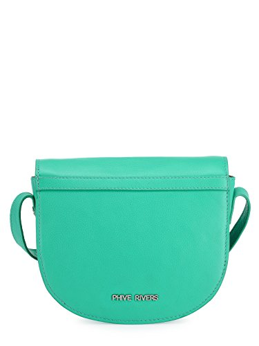 Phive Rivers Women's Leather Sling Bag (Green, PR1219)