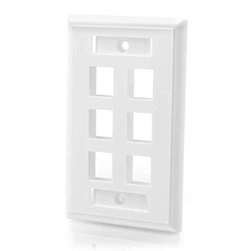 c2g-6-port-multimedia-keystone-wall-plate-white-flat-panel-wall-mounts-white