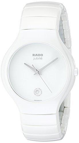Rado Men's R27695722 True Jubile White Ceramic Bracelet Watch by Rado