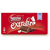 Nestlé Extrafino 3 Chocolates Chocolate Blanco Negro y con Leche - Tableta de Chocolate 25 x