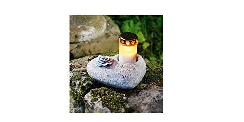 Herz mit Spruch Wir vermissen Dich Dekoherz Pflanzherz Grabschmuck Trauerschmuck Grabfigur Trauerfigur Friedhoffigur Gedenkstein