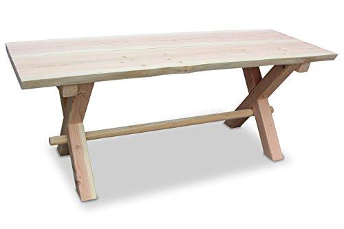 GreenSeason.de Douglasie Tisch Rustik aus Holz 120cm - 200 cm (Länge 150 cm)