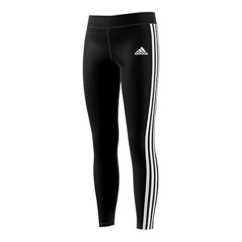 adidas Yg Gu 3S Tight Leggings für Mädchen, Schwarz (Schwarz / Weiß), 158