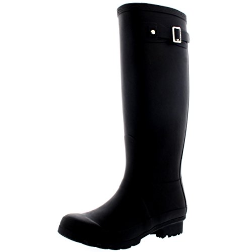 Womens Original Tall Snow Winter Waterproof Rain Wellies Wellington Boots - Black...