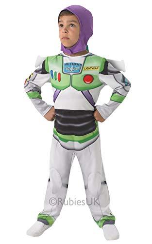 Disney Jungen Toy Story Buzz Lightyear Büchertag Woche Fach Astronaut Halloween Kostüm Kleid Outfit Alter 1-8 Jahre - Weiß, 2-3 Years