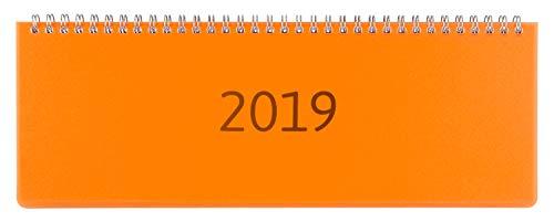 Idena 11303 - Tischkalender Transparenz 2019, FSC-Mix, orange