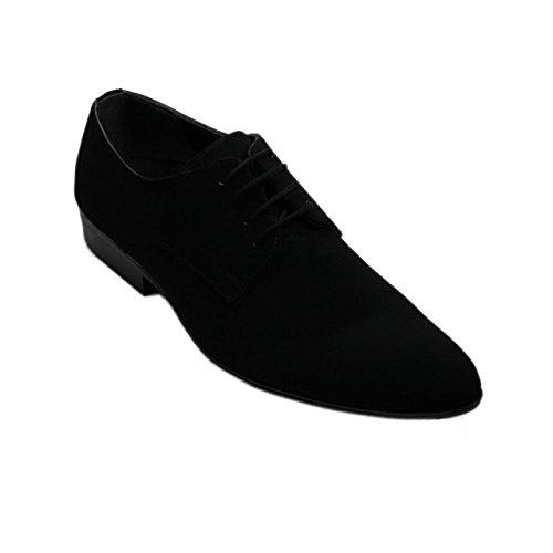 Herrenschuhe - Halbschuhe - Schnürschuhe - Business Schnürer Casual 81020-V schwarz Größe 40