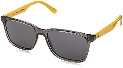 Tommy hilfiger th 1486/s ir p49, occhiali da sole uomo, grigio (grey olive/grey bluee), 55