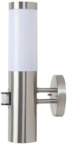 BTR Betterlighting GmbH Applique Moderne Lampe Extérieure/Lanterne Murale/Luminaire avec Détecteur de Mouvement/Luminaire De Jardin/IP44/Acier Affiné/BT1003 UP-Pir