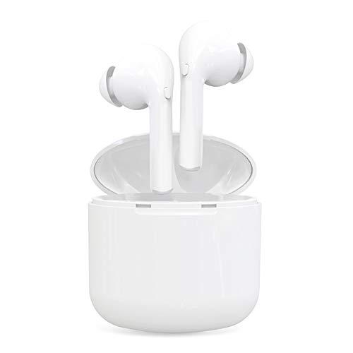 Bluetooth Kopfhörer In Ear Sport Ohrhörer Bluetooth Headset Joggen V5.0 Stereo-Sound Bluetooth Kopfhörer Kabellos mit Ladestation und Mikrofon für IOS Android Samsung Huawei HTC (Weiß)