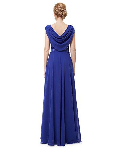 Ever Pretty Damen Elegante Pailletten Lange Abendkleider 09989 Saphirblau
