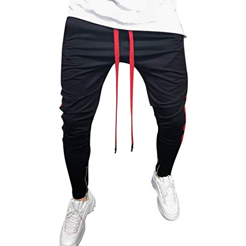 Liuchehd-pantaloni sportivi da uomo pantaloni sportivi con elastico pantaloni a righe larghi uomo pantaloni da jogging pantaloni