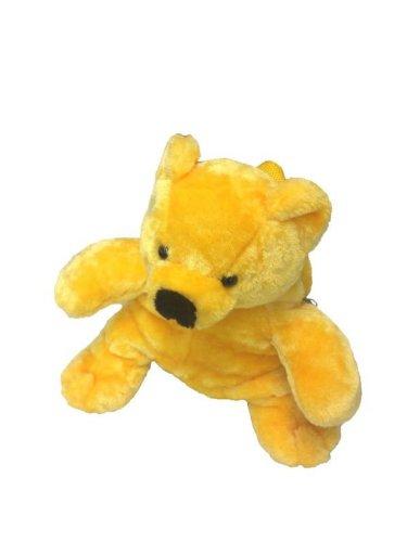 Foxxeo 11013-STD | Deluxe Kinderrucksack Bären Rucksack Plüsch 30 cm gelb Bärenrucksack gelber Bär Kind für Kinder Träger verstellbar