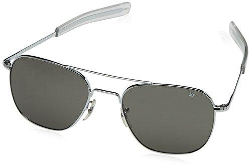 American Optical Original Pilot Bajonett 57Silber CCP Pol. Grau Sonnenbrille