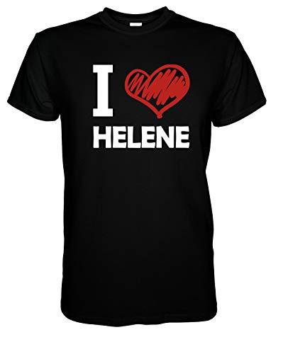 I Love Helene - T-Shirt Herren Geschenke für Männer 3XL Schwarz