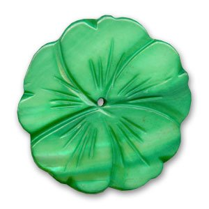 Mother-of-Pearl Flower 41 mm Green x1