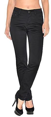 by-tex Pantalon femme pantalons femmes taille haute pantalon en femme de grande taille T101