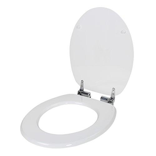 Yorbay WC Sitz Toilettensitz MDF mit Absenkautomatik (Weiß)