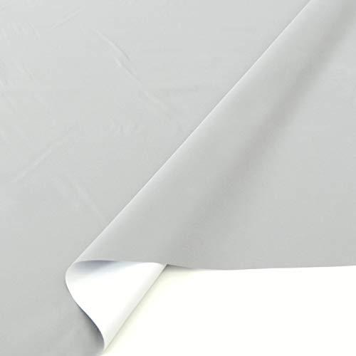TOLKO Sonnenschutz Verdunklungsstoff Meterware | 100{7d77eb6e35e01981422bbd4609bc1edfa9d9982883be282a60d988a65ca804af} Lichtdicht, zum Nähen für Verdunklungsvorhänge, Gardinen oder Verdunklungsrollo (Hell Grau)