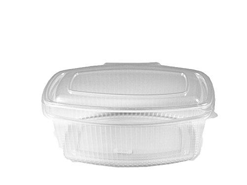 Feinkostbecher oval klar mit Deckel 1000 ml (PP) [50 St.]