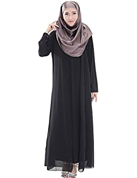 GladThink Donne arabo musulmano Chiffon Vestito