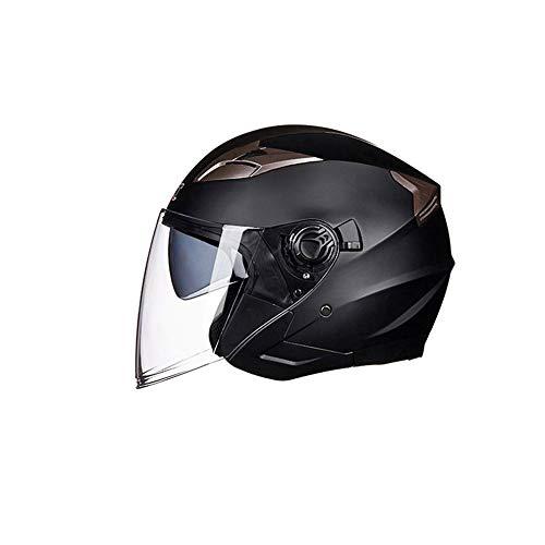 Mouchao Casco Abierto de la Motocicleta Casco de Moto ciclomotor Jet Bobber Piloto para Adulto L