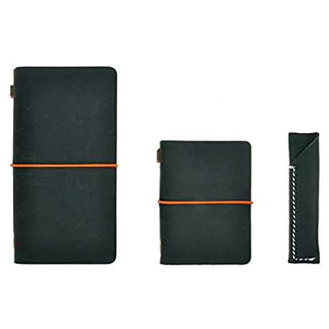 ZLYC Agenda / carnet de notes en cuir - rechargeable,