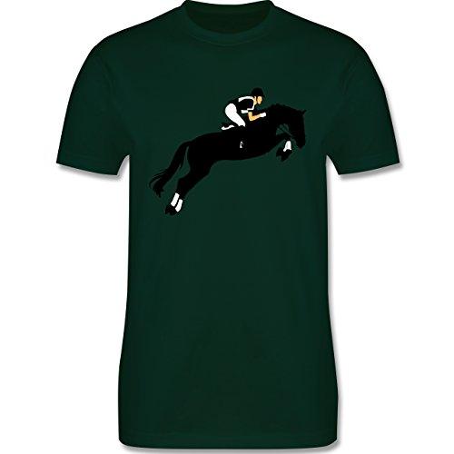 Reitsport - Springreiten Springreiten - Herren Premium T-Shirt Dunkelgrün