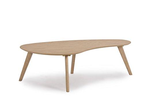 MORE DESIGN Table Basse, MDF/Bois, Naturel, 120 x 60 x 38 cm