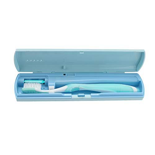 Artibetter Tragbare UV-Zahnbürste Sanitizer Zahnbürstenetui Zahnbürstenhalter Reise (blau) (Zahnbürste Sanitizer Uv)