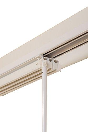 SUNL Ines hw8000Panel de Sistema de raíles, Blanco, 2Vías), 120–215cm Panel Carril, Metal, Color Blanco, 120x 4x 2cm