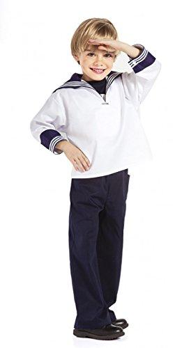 Modas Kinder Matrosenhemd, Farbe:weiß, (Kinder Kostüme Hamburger)