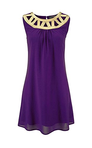 Melrose - Robe - Cocktail - Opaque - Femme Or Lila-Gold Multicolore - Lila-Gold