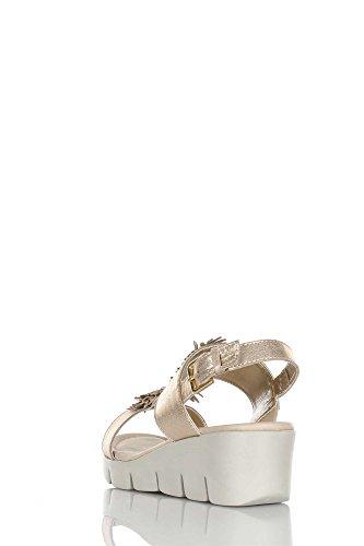 donna gold Flexx 16 zeppe comode Emma oro dune B305 The Oro sandali wCxqI0