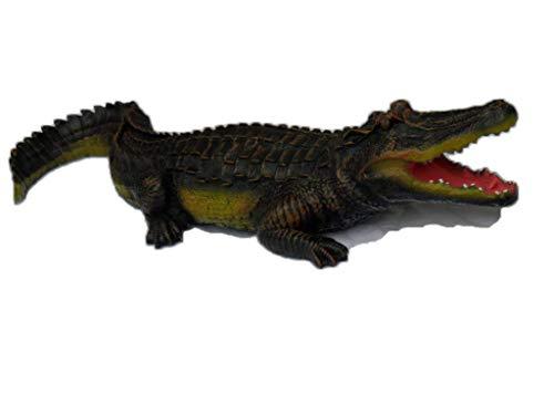 Krokodil Figur verschieden größen (wahlweise 69cm oder 117cm) Deko Garten Gartenfigur Alligatoren Kaiman (Mehrfarbig)...