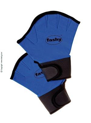 Fashy 4462 Aqua Neopren Handschuhe mit Klettverschluss , M (blau-schwarz)