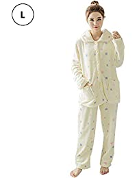 8380eb0a5fa Dream-cool Womens Pyjama Sets Winter Pajamas Suit Thick Warm Chest Sweet  Flannel Point Pattern