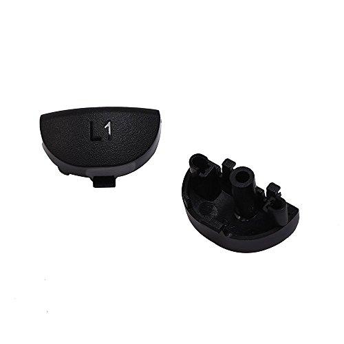 Mudder Apretones de Reemplazo de Gatillo L2 R2 L1 R1 Joysticks de Reemplazo Cubierta Protectora de Apretones de Silicona para PS4 Controladores  Negro