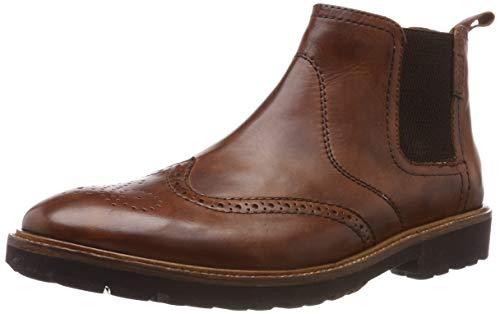 Manz Herren Firenze Chelsea Boots, Braun (Cognac 177), 43 EU (Boots Firenze)