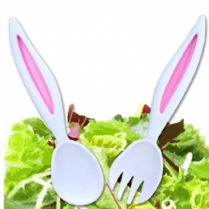 DCI Rabbit Ears Salad Servers, Garden, Haus, Garten, Rasen, Wartung Handle-server